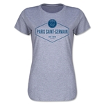 Paris Saint-Germain Diamond Shield Women's T-Shirt (Gray)