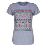 FC Santa Claus Christmas Sweater Women's T-Shirt (Gray)