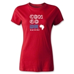 Congo DR Women's Country T-Shirt (Red)
