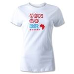 Congo DR Women's Country T-Shirt (White)