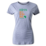 Cote d'Ivoire Women's Country T-Shirt (Gray)