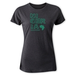 Nigeria Women's Country T-Shirt (Dark Gray)