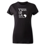 Tunisia Women's Country T-Shirt (Black)