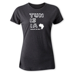 Tunisia Women's Country T-Shirt (Dark Gray)