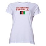 Afghanistan Women's Football T-Shirt (White)
