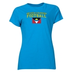 Antigua & Barbuda Women's Football T-Shirt (Turquoise)