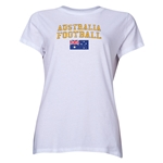 Australia Women's Football T-Shirt (White)