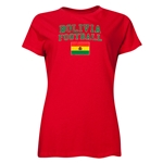 Bolivia Women's Football T-Shirt (Red)
