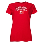 Canada Women's Football T-Shirt (Red)