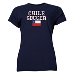 Chile Women's Soccer T-Shirt (Navy)