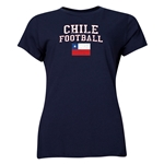 Chile Women's Football T-Shirt (Navy)