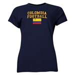 Colombia Women's Football T-Shirt (Navy)