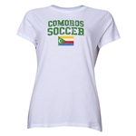 Comoros Women's Soccer T-Shirt (White)