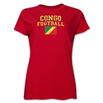 Congo Women's Football T-Shirt (Red)