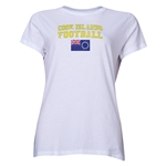 Cook Islands Women's Football T-Shirt (White)