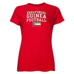 Equatorial Guinea Women's Football T-Shirt (Red)