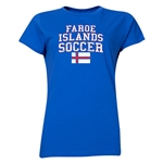 Faroe Islands Women's Soccer T-Shirt (Royal)