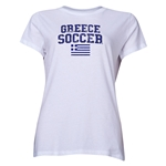 Greece Women's Soccer T-Shirt (White)
