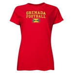 Grenada Women's Football T-Shirt (Red)
