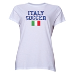 Italy Women's Soccer T-Shirt (White)