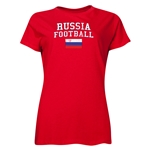 Russia Women's Football T-Shirt (Red)