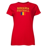 Romania Women's Football T-Shirt (Red)