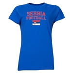 Serbia Women's Football T-Shirt (Royal)