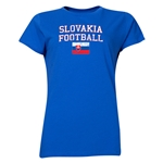 Slovakia Women's Football T-Shirt (Royal)