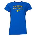 Sweden Women's Football T-Shirt (Royal)