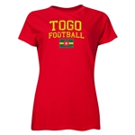 Togo Women's Football T-Shirt (Red)
