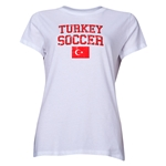 Turkey Women's Soccer T-Shirt (White)