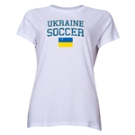 Ukraine Women's Soccer T-Shirt (White)