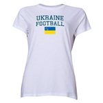Ukraine Women's Football T-Shirt (White)