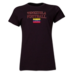 Venezuela Women's Football T-Shirt (Black)