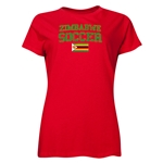Zimbabwe Women's Soccer T-Shirt (Red)