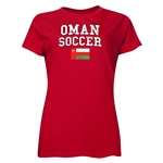 Oman Women's Soccer T-Shirt (Red)