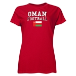 Oman Women's Football T-Shirt (Red)