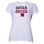 Qatar Women's Soccer T-Shirt (White)