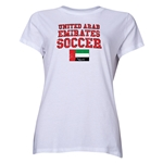 United Arab Emirates Women's Soccer T-Shirt (White)