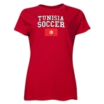 Tunisia Women's Soccer T-Shirt (Red)