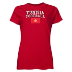 Tunisia Women's Football T-Shirt (Red)