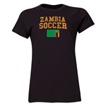 Zambia Women's Soccer T-Shirt (Black)