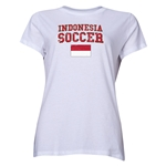 Indonesia Women's Soccer T-Shirt (White)