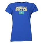 Kazakhstan Women's Soccer T-Shirt (Royal)