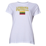 Lithuania Women's Football T-Shirt (White)