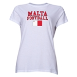 Malta Women's Football T-Shirt (White)
