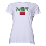 Morocco Women's Football T-Shirt (White)