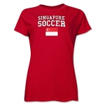 Singapore Women's Soccer T-Shirt (Red)
