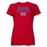 Thailand Women's Soccer T-Shirt (Red)