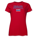 Thailand Women's Football T-Shirt (Red)